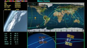 stock-footage-mission-control-screen-s-depicting-various-views-of-earth-and-the-international-space-station-and